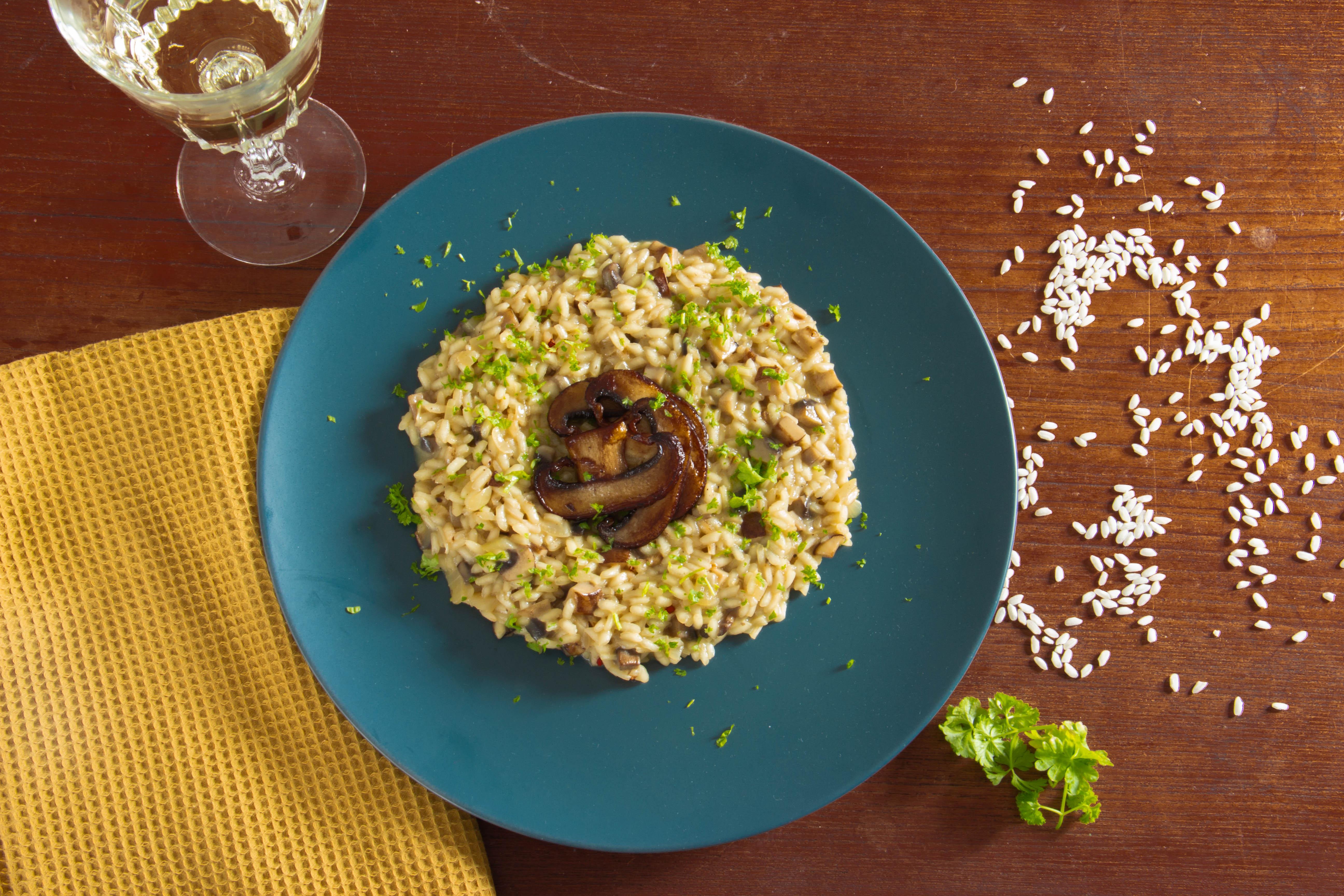 Lækker og cremet risotto med svampe