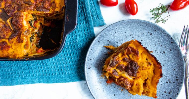 Vegetar lasagne – Opskrift på vegetarlasagne med rigelig ost!