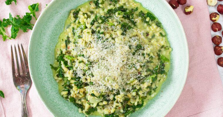 Bygotto med grønkål – Cremet nordisk risotto