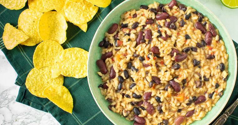 Mexicansk risotto – Risotto med bønner, chili og mexicanske krydderier