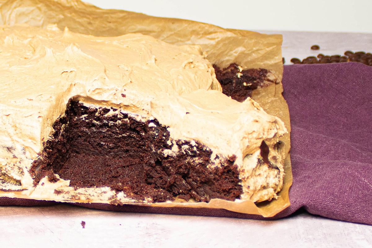 chokoladekage med kaffe smørcreme