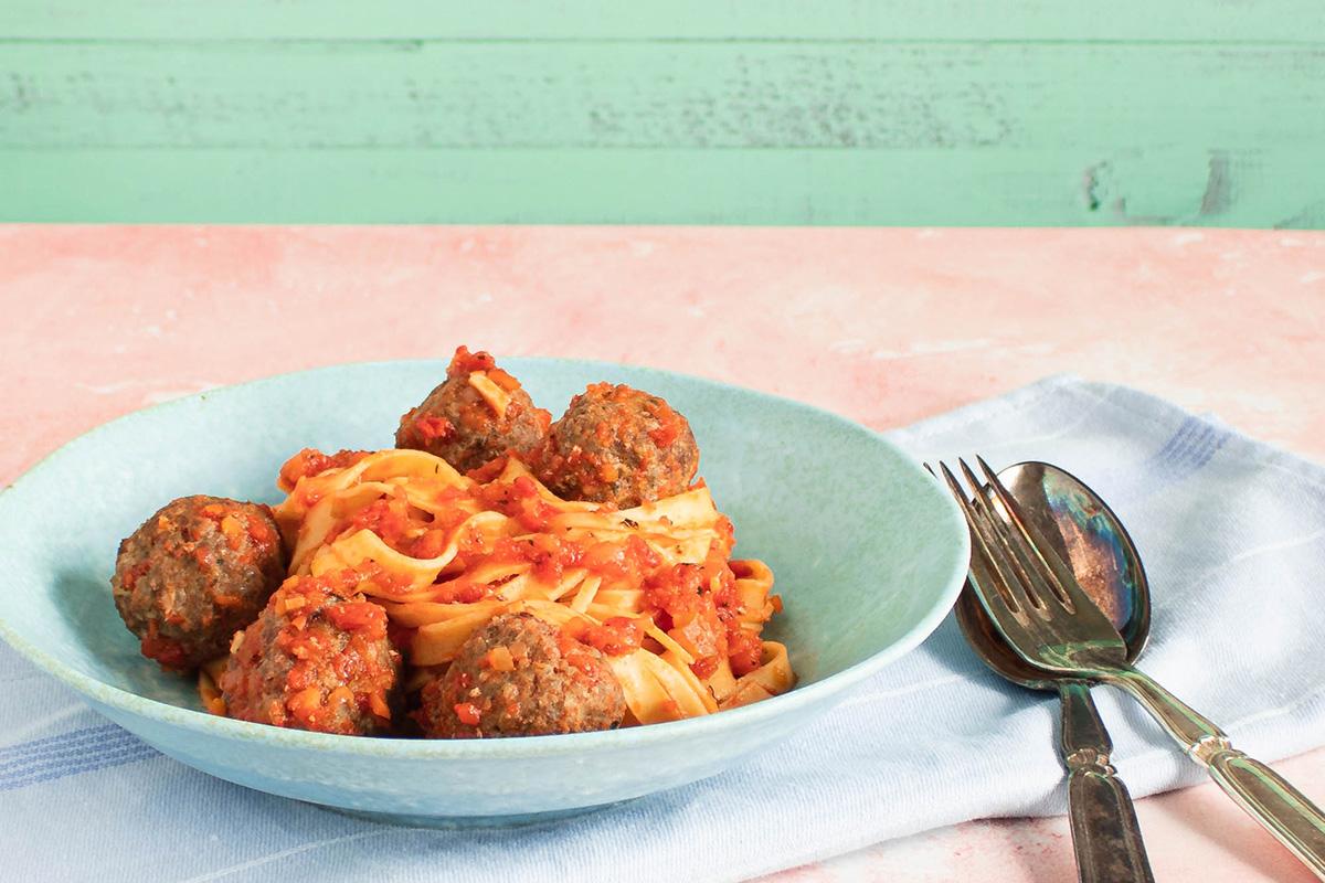 Pasta med kødboller – Opskrift på Lady og Vagabondens yndlingsret