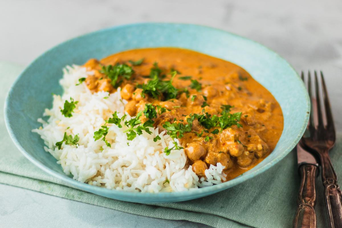 Vegetarisk tikka masala – Indisk inspireret curry med kikærter