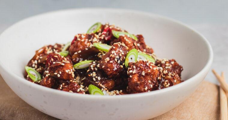 General tso's blomkål – Indbagt blomkål i asiatisk sticky sauce